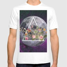 BLOOMING White MEDIUM Mens Fitted Tee