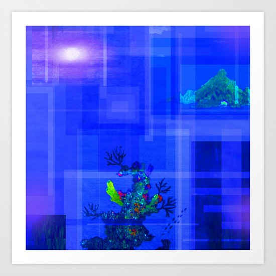 Ocean Deep In The Moon Light Art Print