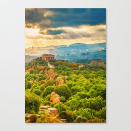 Agrigento and the Valley of the Temples Canvas Print