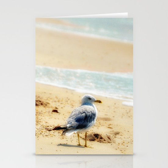 Lonely gull of summer. Stationery Cards