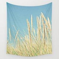 grass Wall Tapestries featuring Beach Grass by Cassia Beck
