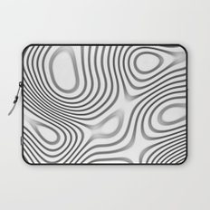 Organic Abstract 01 WHITE Laptop Sleeve