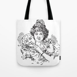 TWO FACED WOMAN Abstract Art Tote Bag