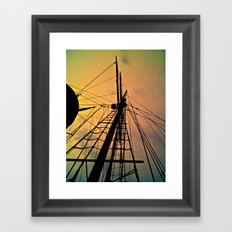 We Sail at Dawn Framed Art Print
