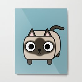 Cat Loaf - Siamese Kitty with Crossed Eyes Metal Print