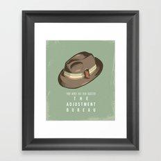 The Adjustment Bureau - Movie Poster Framed Art Print