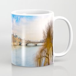The Louvre From The Banks Of The Seine On A Beautiful Winter Day Coffee Mug