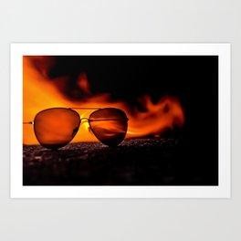 """Fire Sunglasses"" Art Print"