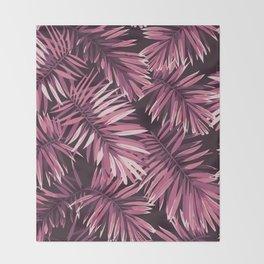 Rose palm leaves Throw Blanket