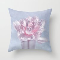 peony Throw Pillows featuring PEONY by VIAINA