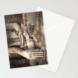 Buddha with flowers Stationery Cards