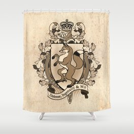 Fox Coat Of Arms Heraldry Shower Curtain