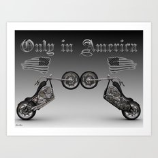 Only in America Art Print