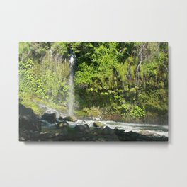 Mossbrea Falls Metal Print