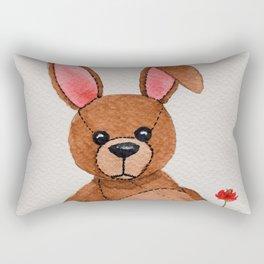 Patches the watercolour teddybunny Rectangular Pillow