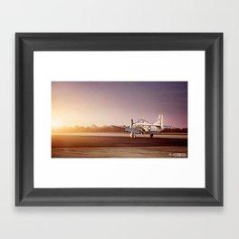 Vintage Plane at Bowman Air Field Framed Art Print
