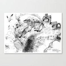 Au-Delà du Terminus / Beyond the End Station Canvas Print