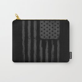 Grey American flag Carry-All Pouch