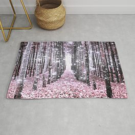 Magical Forest Pink Gray Elegance Rug