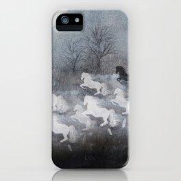 phantom horses iPhone Case