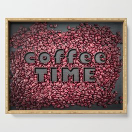 Coffee time poster Serving Tray