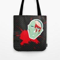 walking dead Tote Bags featuring dead walking by Tudisco