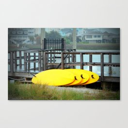 Four Yellow Surfboards Canvas Print