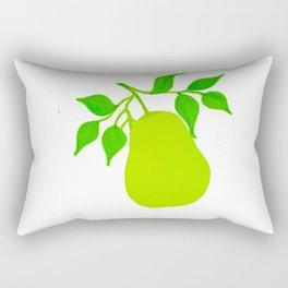 Green Pear Rectangular Pillow