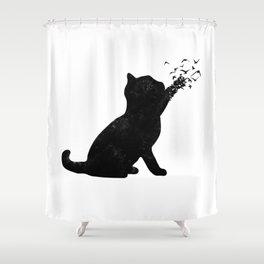 Poetic cat Shower Curtain