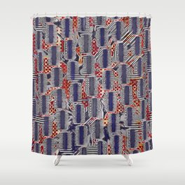 Snakes and Ladders. Shower Curtain