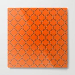 Imperial Trellis Winter 2018 Color: Unapologetic Orange Metal Print