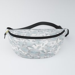 Silver Turtles Pattern Fanny Pack