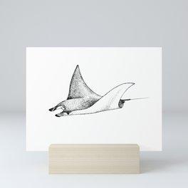 Manta Ray Mini Art Print