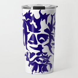 face1 blue Travel Mug