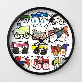 Monster Truck Kid Art by Tucker Wall Clock