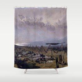 Le Rêve (The Dream) by Édouard Detaille (1888) Shower Curtain