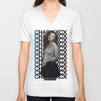 charli xcx V-neck T-shirts featuring Charli XCX  by Illuminany