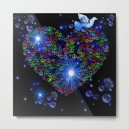 Peace N Love Blitz Metal Print