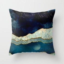 Indigo Sky Throw Pillow