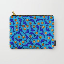 Cute Dolphins on Blue Carry-All Pouch
