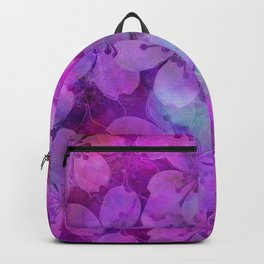 Fancy Floral watercolor pattern pink Backpack