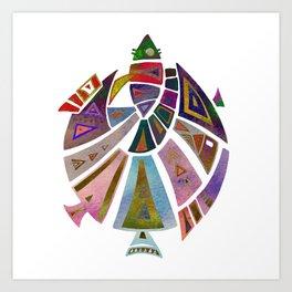 Fish geometric pattern Art Print