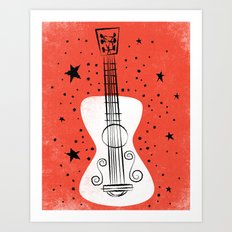 POP GUITAR Art Print