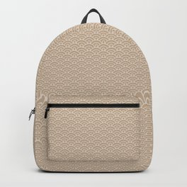 Pantone Hazelnut Scallop, Wave Pattern Backpack
