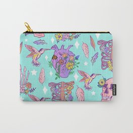 Pastel Goth Floral Morbid Anatomy Kawaii Witchy Carry-All Pouch
