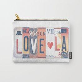 LOVE LA License Plate Art Carry-All Pouch