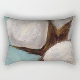 Blue Cotton Rectangular Pillow