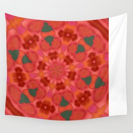 Succulent Red and Yellow Flower Abstract 3 Wall Tapestry