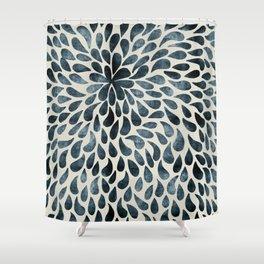 Abstract Flower Petals Shower Curtain