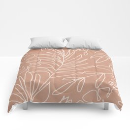 Engraved Tropical Line Comforters